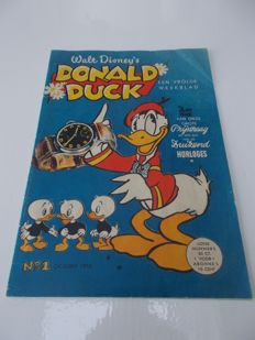 Donald Duck Weekblad - No. 1 - sc - 1st edition (1952)