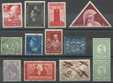 Netherlands 1899/1940 - Selection of 10 flaws and 2 misprints
