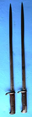 Set of 2 German bayonets Mle 1898 2nd type