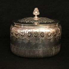 "Silver sugar bowl, ""Odiot Silver in Paris"", early 20th century"