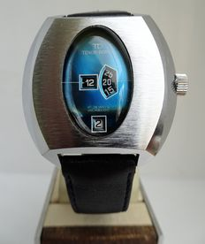Tenor Dorly 'jump hour' 'space egg' men's watch, early 1970s