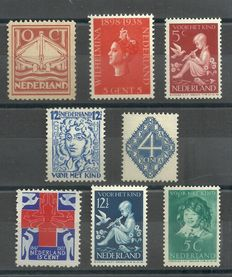 Netherlands 1923/1938 - Selection of 8 flaws