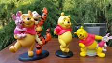 Disney, Walt - Picture frame + 2 figurines - Winnie the Pooh + Winnie the Pooh and friends
