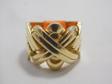 Turkish ring in 18 kt yellow gold