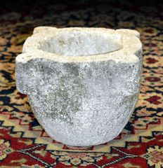 Marble stone mortar from Genoa - 1800