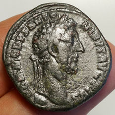 Roman Empire - Commodus (177-192) AE Sestertius, Rome, Fortuna