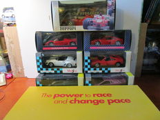 Various - Scale 1/20-1/38 - Lot with 7 models and a Shell set with 6 Ferrari's