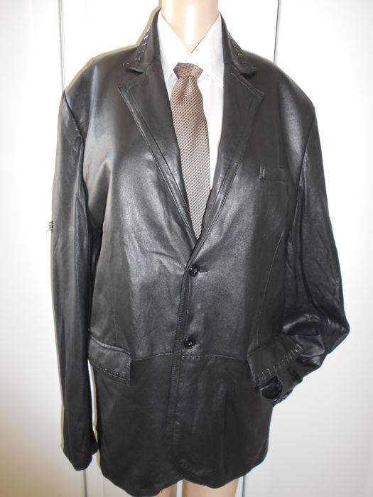 7ee66eced Versace Collection – Men's leather jacket - Catawiki