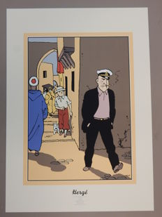 Hergé - Zeefdruk Archives Internationales - Alan - Tintin - Le crabe aux pinces d'or (1991)