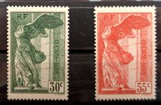 France 1937 - Pair of Samothrace, signed by JF Brun - Yvert 354/355