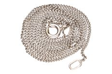 White gold curb link necklace of 14 kt