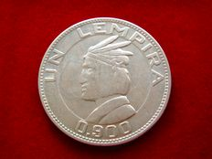 Republic of Honduras – One silver lempira 1937. Rare