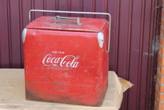 COCA COLA - ice box - 1940s, American model
