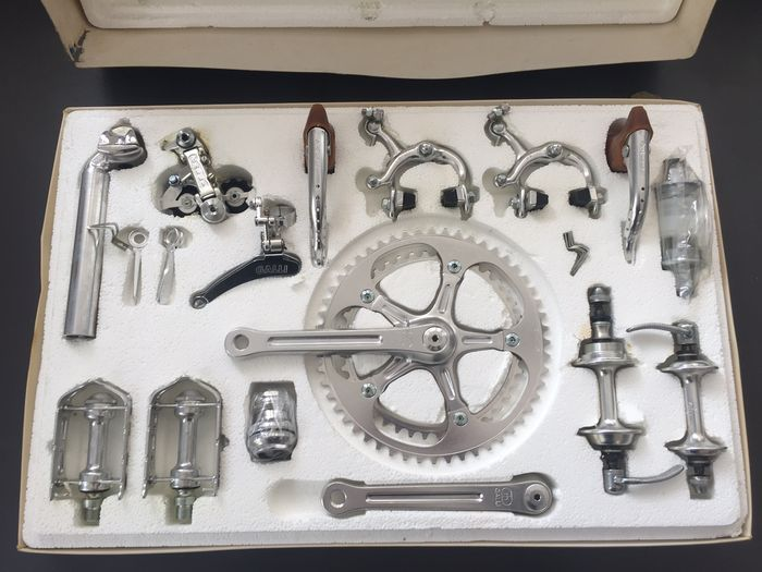 Galli - complete gear set - bottom bracket and brakes for bicycles - ca. 1950