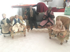 Doll's house, family group