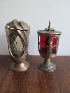 Two old sanctuary lamps - Italy - first half 20th century