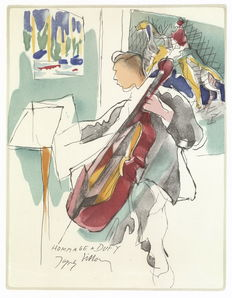 Jacques Villon (from) - tribute to Raoul Dufy, cellist