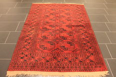 Old collectors' carpet Afghan around 1940 natural colours 140 x 200 cm