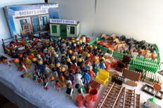 Large collection of vintage Playmobil and Playbig items