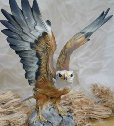Golden eagle made of porcelain Capodimonte