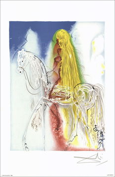 Salvador Dali (after) - Les chevaux Daliniens, Lady Godiva