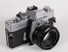 Minolta SRT-303B with standard lens and wide-angle lens