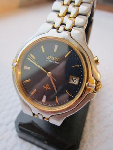 Seiko Kinetic  5M42-0A50  – men's wristwatch– approx. 2005
