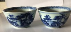Nanking cargo pair of tea bowls - China - circa 1750