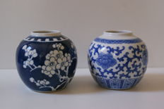 Two porcelain Ginger jars - China - late 19th century