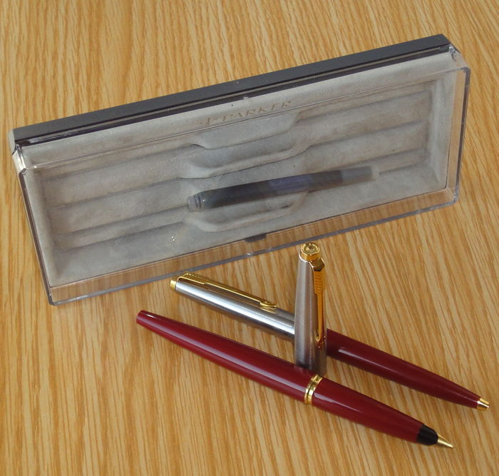 PARKER 45 Special DeLuxe GT Burgundy Fountain