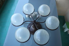 Gino Sarfatti for Arteluce - Glass Ball Ceiling Lights, model 2042/6