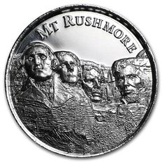 USA - 2 oz Mount Rushmore - Ultra High Relief - mit 3D Effect - 999 AG Silbermünze Silber Silver - American Landmarks