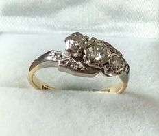 18ct & Platinum Diamond Trilogy Ring .25ct