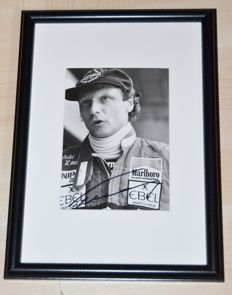 Niki Lauda Handsigned 1983 McLaren Press Photo / Framed