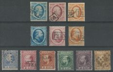 The Netherlands 1852/1863 – King William III – NVPH 1/3, 4/6, 7/12