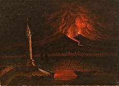 Unknown artist - Eruzione notturna del Vesuvio - end of the 18th century