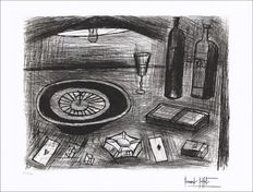 Bernard Buffet - La table de jeux