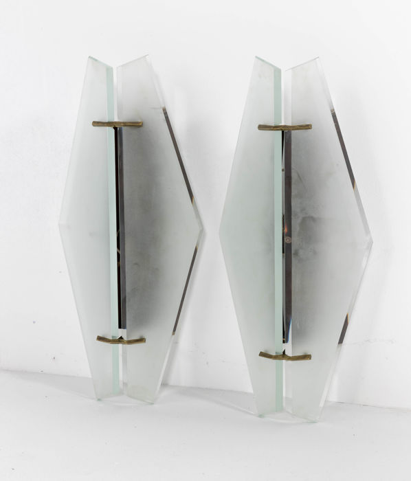 max ingrand for fontana arte rare pair wall lights model no 1937 catawiki. Black Bedroom Furniture Sets. Home Design Ideas