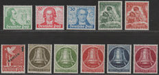 Berlin 1949 - 3 sets and better single - Michel 61/63, 80/81, 67 and 82/86
