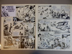 Lacey, Bill - 2x Original page - Eagles over the Western Front - (1973)