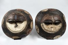 Couple African sun masks - EKET- Nigeria