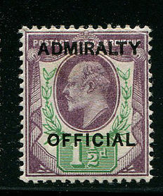 Great Britain 1903 – 1.5d dull purple & green Admiralty Official – Stanley Gibbons O103