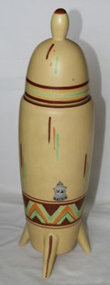 Tiko Gouda - Space Age lidded vase, model 'Pyramide'