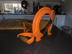Vintage RAADVAD Cutter / Bread Slicer Danish Design no. 294 Orange 1970's
