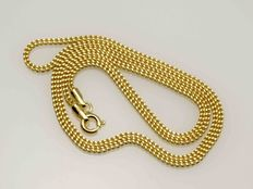 Solid 18 kt gold necklace chain diamond cut