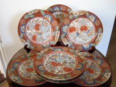 Seven porcelain plates – Japan – early 20th century.