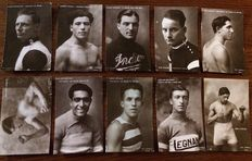 Italy, Milan, 1922. 10 postcards, series sports champions