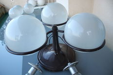 Gino Sarfatti for Arteluce - Glass Ball Ceiling Lights model 2042/3