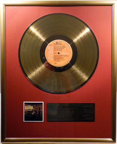 """Elvis Presley - From Elvis in Memphis -  12"""" german RCA record gold plated record by WWA Awards"""