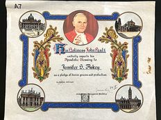 "Vatican document ""His Holiness John Paul II"", by Pope John Paul II, with autograph, ref. Pope Joannes Paulus PP. II"